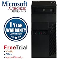 Lenovo M81 Business High Performance Tower Desktop Computer PC (Intel Core i3 2100 3.1G,4G RAM DDR3,250G HDD,DVDRW,Windows 10 Professional)(Certified Refurbished)