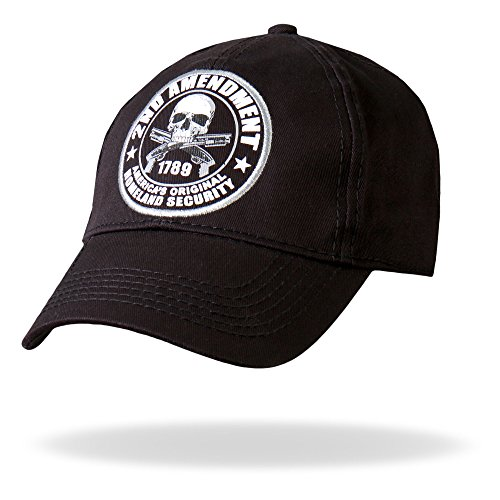 Hot Leathers 2nd Amendment Baseball Hat (Black)