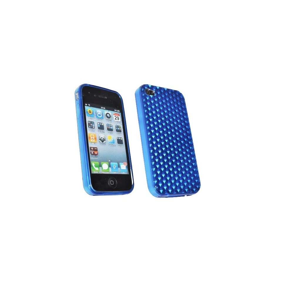Mobile Palace Blue silicone skin case cover pouch holster with screen