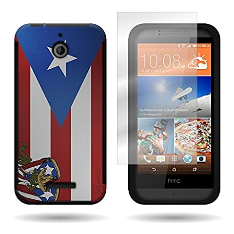 CoverON For HTC Desire 510 Armor Hybrid Dual Layer Phone Case Cover w/ Screen Protector - Puerto Rico Flag (Htc Desire 510 Flap Case)