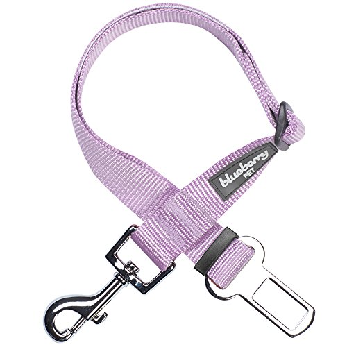 Blueberry Pet 12 Colors Classic Dog Seat Belt Tether for Dogs Cats, Lavender, Durable Safety Car Vehicle Seatbelts Leads Use with Harness