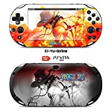 Ci-Yu-Online VINYL SKIN [PS Vita] - One Piece #4 Portgas D. Ace - STICKER DECAL COVER for Sony PlayStation Vita 2000 Console System