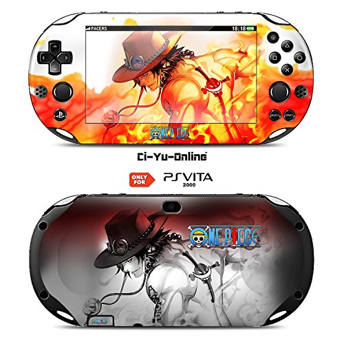 Ci-Yu-Online VINYL SKIN [PS Vita] - One Piece #4 Portgas D. Ace - STICKER DECAL COVER for Sony PlayStation Vita 2000 Console System - One Piece Ace Decal