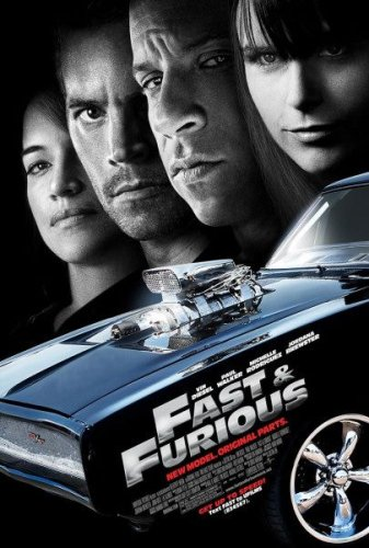 FAST AND FURIOUS MOVIE POSTER 1 Sided ORIGINAL 27x40 VIN - Brand Diesel Vin