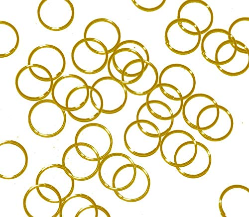3-12mm 100 Plated Brass Jump Rings Links Silver Gold Antique Brass Copper U-Pick 6.5mm Gold Plated 8mm 20 GA