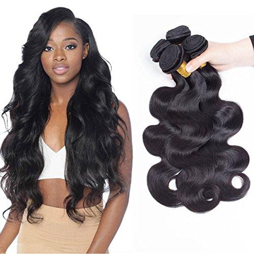 SiJi Mei Brazilian Hair 3 Bundles Body Wave Human Hair Extensions body wave 300g Mixed Length(14 16 18)