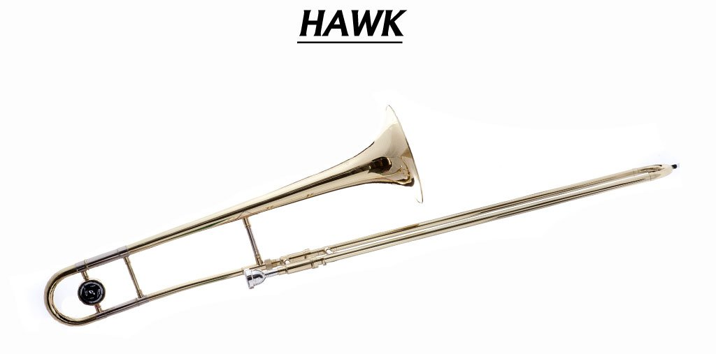 Hawk WD-TB315 Slide Bb Trombone with Case and Mouthpiece, Gold Lacquer by Hawk (Image #1)