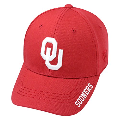 - Top of the World NCAA-Premium Collection-One-Fit-Memory Fit-Hat Cap-Oklahoma Sooners