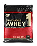 OPTIMUM NUTRITION GOLD STANDARD 100% Whey Protein Powder, Vanilla Ice Cream, 10 Pound For Sale
