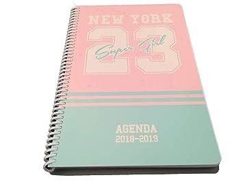 Agenda Escolar 2018 2019 Vuelta al Cole (ROSA) Ney York 23 ...