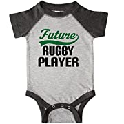 inktastic - Future Rugby Player Infant Creeper 6 Months Heather and Smoke