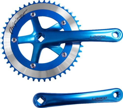 New Single Kette Ring Kurbel 1 20,3 cm 48T CNC rund X 170 mm Anodized Blau