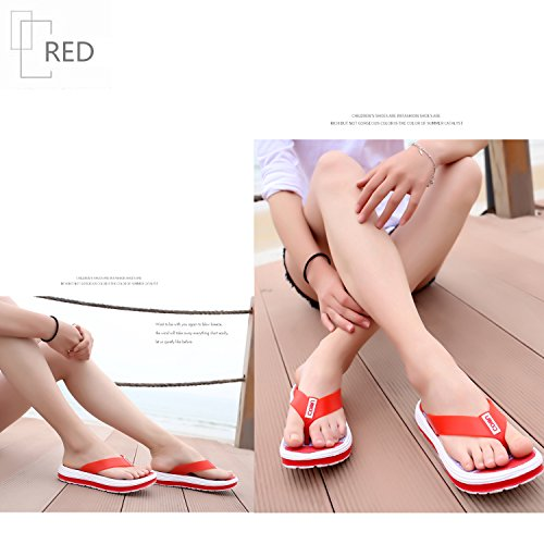 Multicolore Tongs Rouge Piscine Confort Flop Femme mastery Pantoufles Chaussures Flip H Ete Plage Fille Sandales z6AqwW5nv