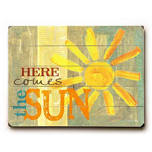 Dozili Here Comes The Sun Wooden Hanging Sign Beautiful Plaque Sign 12