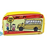 Yellow Snoopy and the Peanuts Gang School Bus Pencil Bag