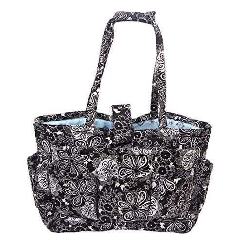 (Yarn Tote Bag Knitting Bag Yarn Storage Tote (Black&White))