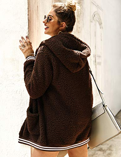 Oversize Women Fluffy Sweater Cardigans Long Sleeve Hooded Coat Jacket Outwear