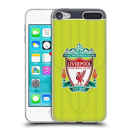 Official Liverpool Football Club Crest Third Shirt Kit 2016/17 Soft Gel Case for Apple iPod Touch 6G 6th -