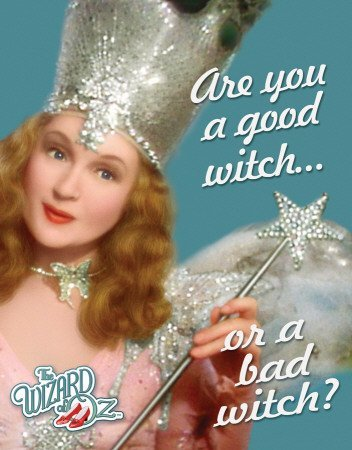 Film The Wizard Of Oz Are You A Good Witch or Bad Witch? Tin Sign 30x40cm by Poster (Bad Witch Tin Sign)