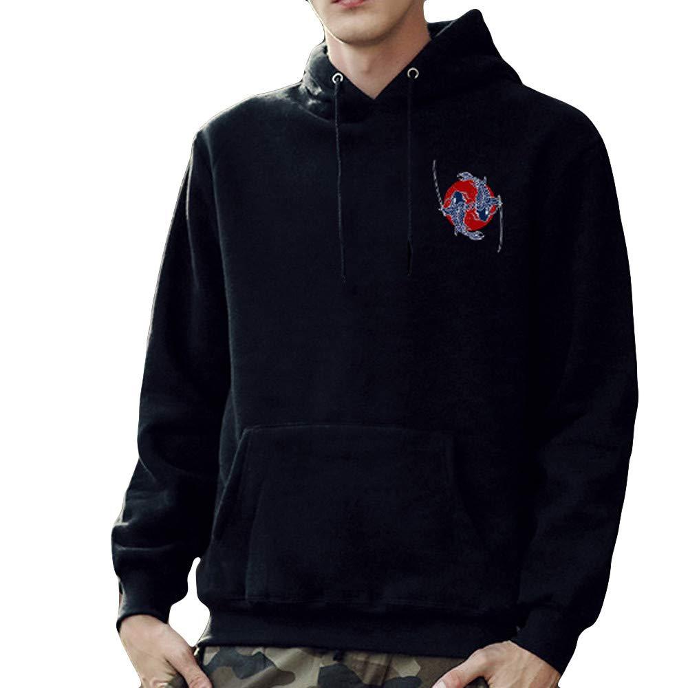 Hunputa Mens Blouse,Mens Printed Pullover Long Sleeved Sweater Tops Blouse
