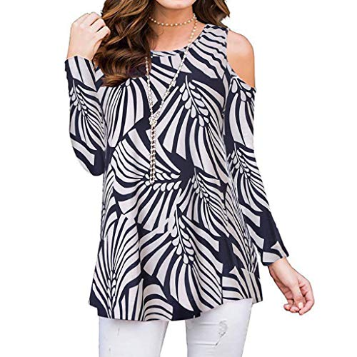 Bravetoshop Womens Sexy Cold Shoulder Tops Long Sleeve Henley Pleated Casual Flare Tunic Blouse Shirts Black
