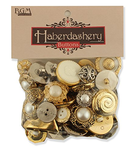 Buttons Galore Haberdashery Button  Gold Silver  Pack Of 100