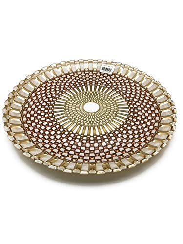 """TkUniware Opaque Brown Mosaic Decorative Plate 13"""" for Home Decoration A502-130BR from TkUniware"""