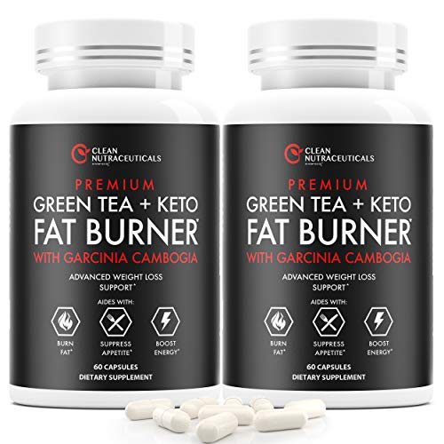 Green Tea, Keto, Garcinia Cambogia Fat Burner, Green Tea Extract Supplement with EGCG, Diet Pills, Appetite Suppressant…