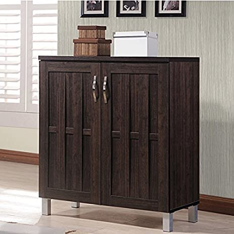 Amazon.com: Excel Modern and Contemporary Dark Brown Sideboard ...