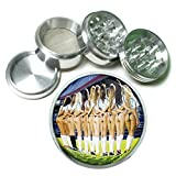 Argentina Pin Up Girls South America S6 Chrome Silver 2.5'' Aluminum Magnetic Metal Herb Grinder 4 Piece Hand Muller Herb & Spice Heavy Duty 63mm