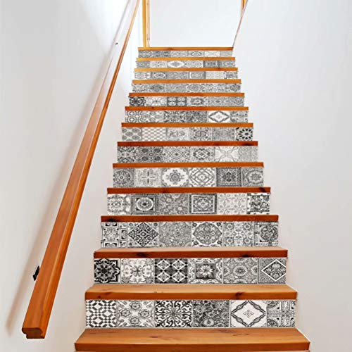 Tifege Stair Sticker Decals Retro Ceramic Tiles