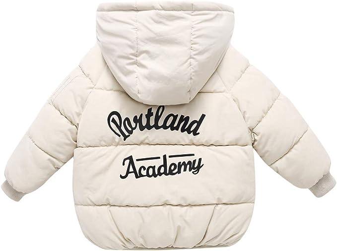 JSPOYOU Children Kids Baby Girl Boy Winter Hooded Coat Jacket Warm Outerwear Clothes