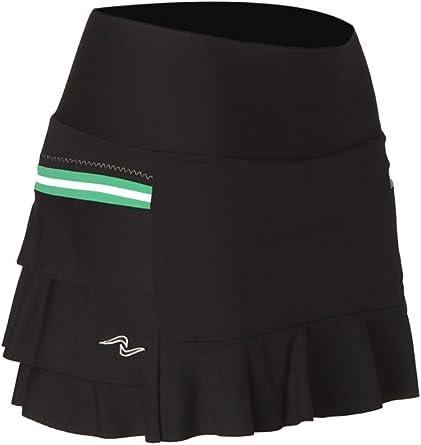 Naffta Tenis Padel - Falda-Short para Mujer, Color Negro/Verde ...