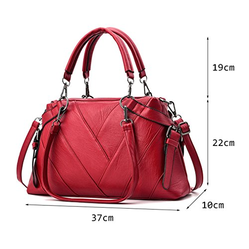 Ladies Shoulder Handbags BagsWomen Tote Bag Women Stripe Handbag Bags Leather t4q0TwxFO