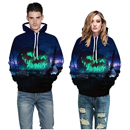 Scary Halloween Movies Full Length (Couple's Scary Halloween Tops 3D Printed Party Long Sleeve Hoodie)
