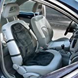 Wagan Soft Velour 12V Heated Seat Cushion Ultra Plush with High/Low/Off Temperature Control (Black)--IN9438