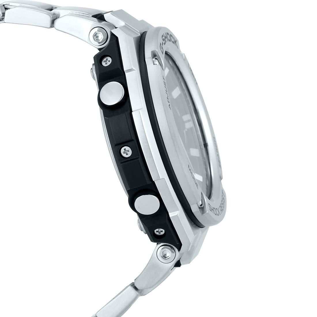 Casio Mens G-Shock GSTS110D-1A Silver Stainless-Steel Quartz Sport Watch: Casio: Amazon.es: Relojes