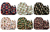 Mama Koala One Size Baby Washable Reusable Pocket Cloth Diapers, 6 Pack with 6 One Size Microfiber Inserts (Animal Puzzle)