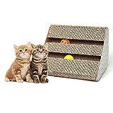 Cat Scratch Pad,Scratcher Catnip,Scratching Posts,Cat Toy Scratch Board Lounge Bell-Ball (11'' x 9.4'' x 7'')