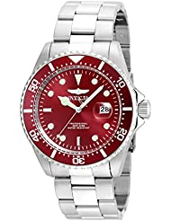 Invicta Mens Pro Diver Quartz Stainless Steel Diving Watch, Color:Silver-Toned (Model: 22048)