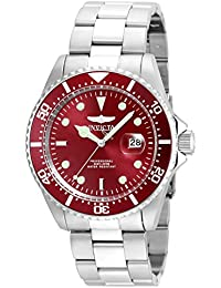 Men's 'Pro Diver' Quartz Stainless Steel Diving Watch, Color:Silver-Toned (Model: 22048)