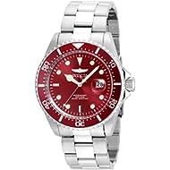 Men's 'Pro Diver' Quartz Stainless Steel Diving Watch, Color:Silver-Toned (Model: 22048)