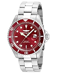 Invicta Men's 'Pro Diver' Quartz Stainless Steel Diving Watch, Color:Silver-Toned (Model: 22048)