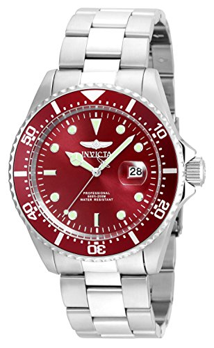 Invicta Men's Pro Diver Quartz Diving Watch with Stainless-Steel Strap, Silver, 22 (Model: 22048) ()