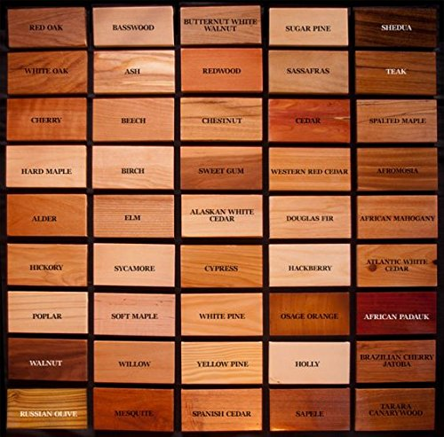 Large Scrap Box Long Edge Rippings Boards Teak,Purpleheart,Maple,Oak,Bloodwood ()
