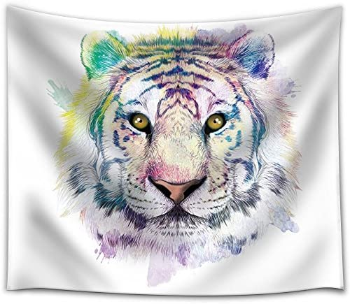 Fun and Colorful Splattered Watercolor Tiger