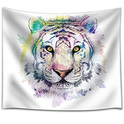Fun and Colorful Splattered Watercolor Tiger Medium