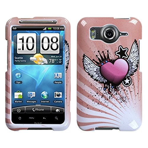 MYBAT HTCINS4GHPCIM679NP Slim and Stylish Protective Case for HTC Inspire 4G - 1 Pack - Retail Packaging - Crowned Heart