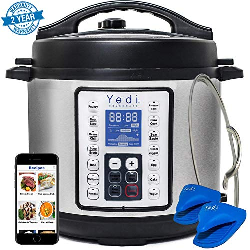9-in-1 Programmable Pressure Cooker, Includes more Accessories than any Instant Pot or MultiPot, and comes with a Recipe Book by Yedi Houseware (6 Qt)