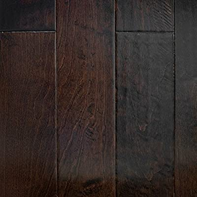 "Birch (Espresso) Hand Scraped Prefinished Engineered Wood Flooring 5"" x 3/8"" Samples at Discount Prices by Hurst Hardwoods"